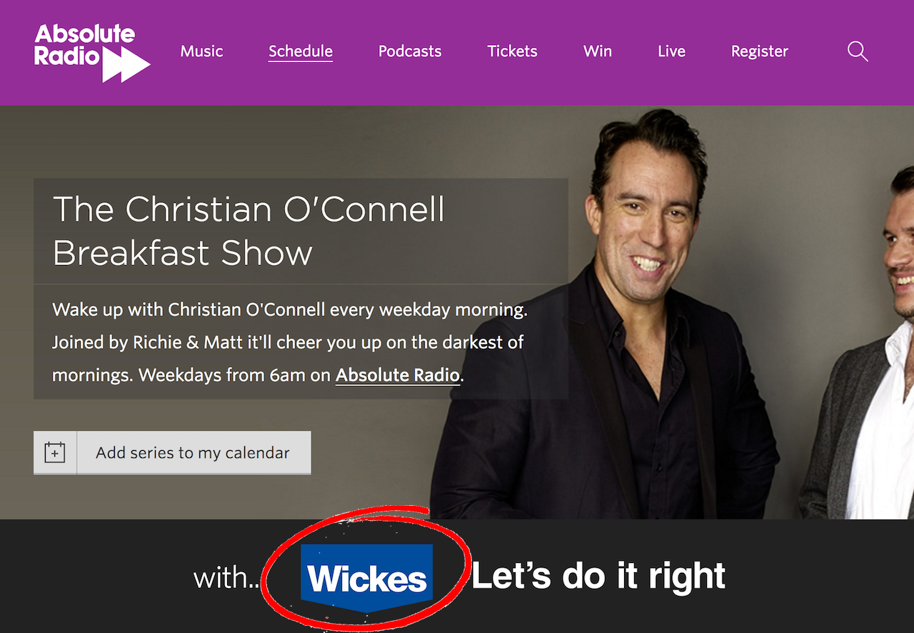 Absolute Radio Wikes Sponsorship Deal - Find Advertising for Your Radio Station