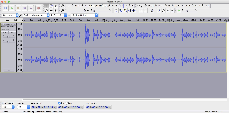 Amplified Audio Audacity