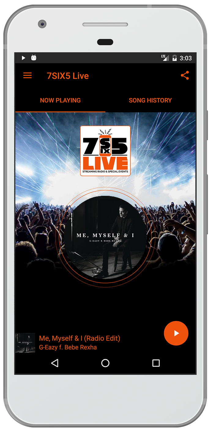 7Six5 App - iphone and android radio mobile apps