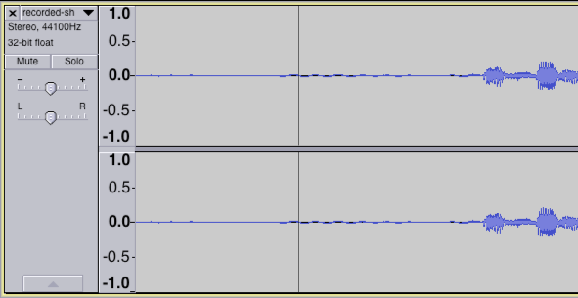 Background Noise in Audacity