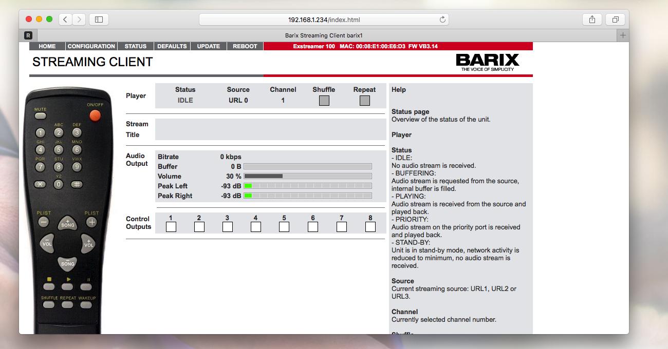 Barix Exstreamer Admin