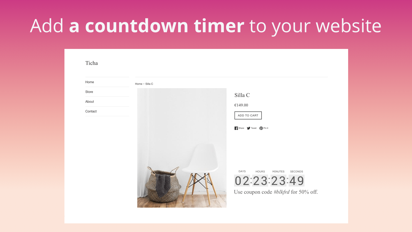 Countdown Timer Weebly Addon