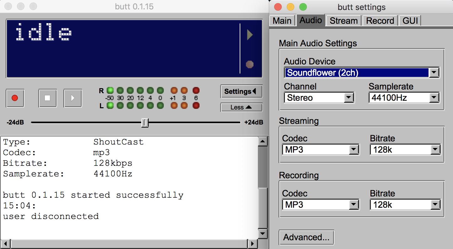 Editing Audio Settings BUTT Multiple Presenters