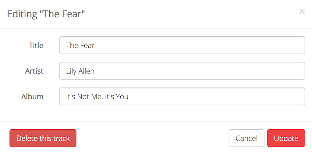 Editing Lilly Allen Fear Track Metadata
