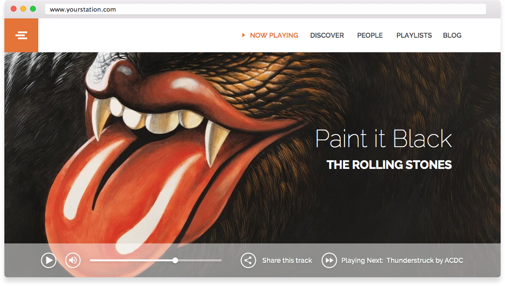 example music player website