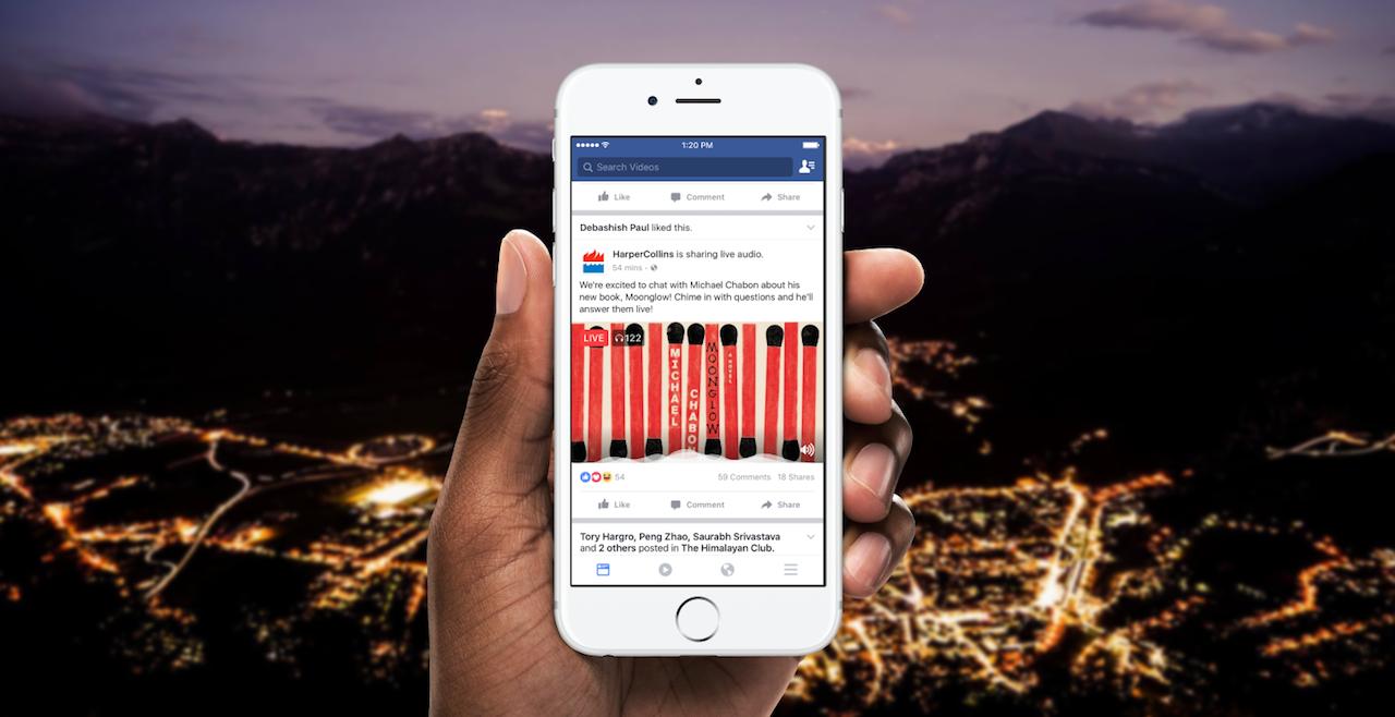 Facebook Live Audio Mobile Hand