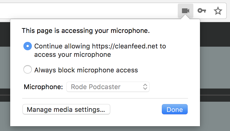 Manage Media Settings Browser