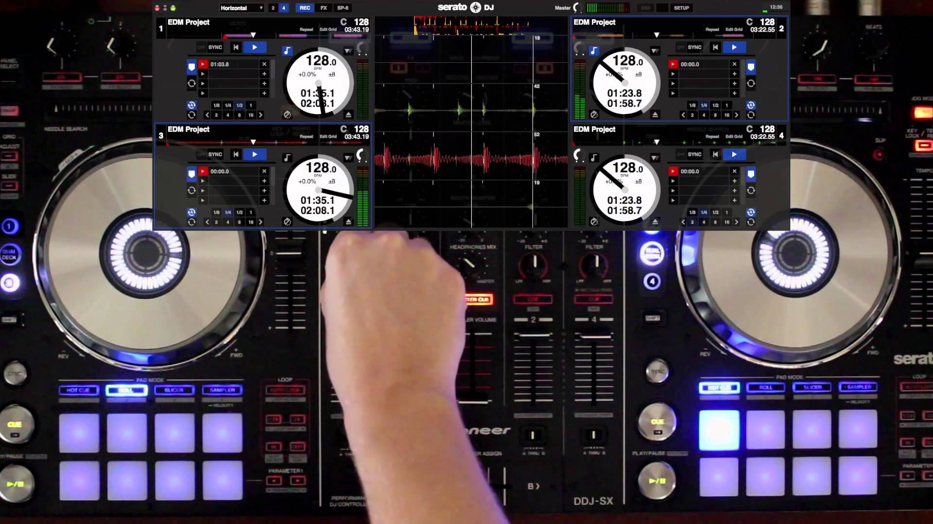 Manage Mixing Deck Serato DJ