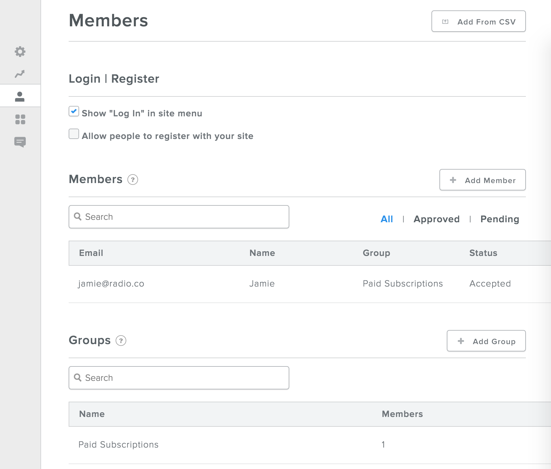 Members Groups Chilled.io