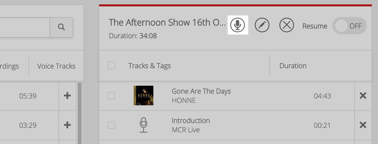 Microphone Playlist MCR Live