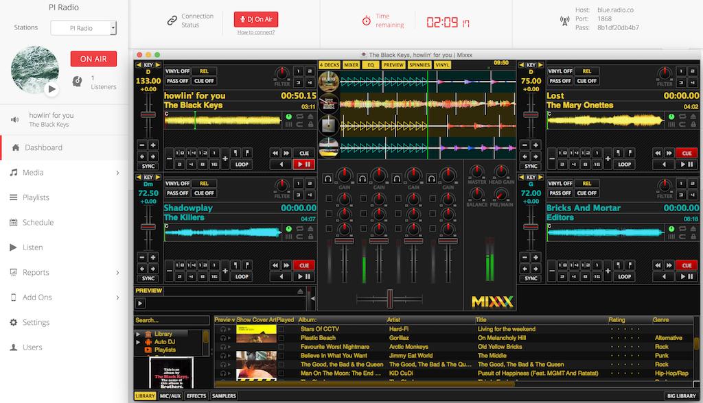 Mixxx Broadcasting Live Radio