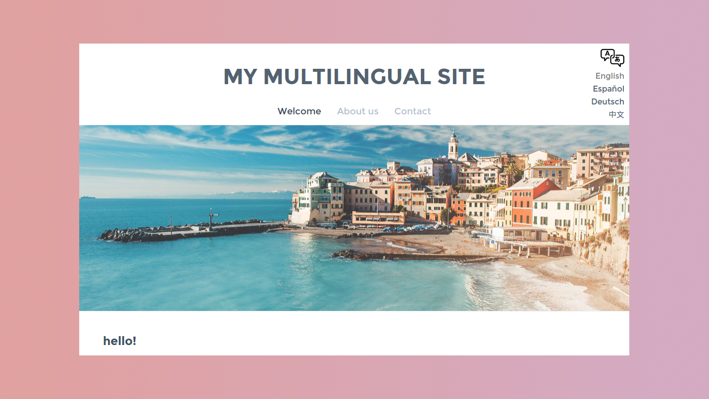 Multilanguage Weebly Addon