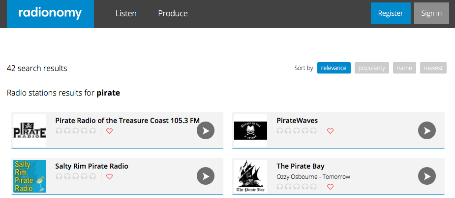 Radionomy Pirate Search
