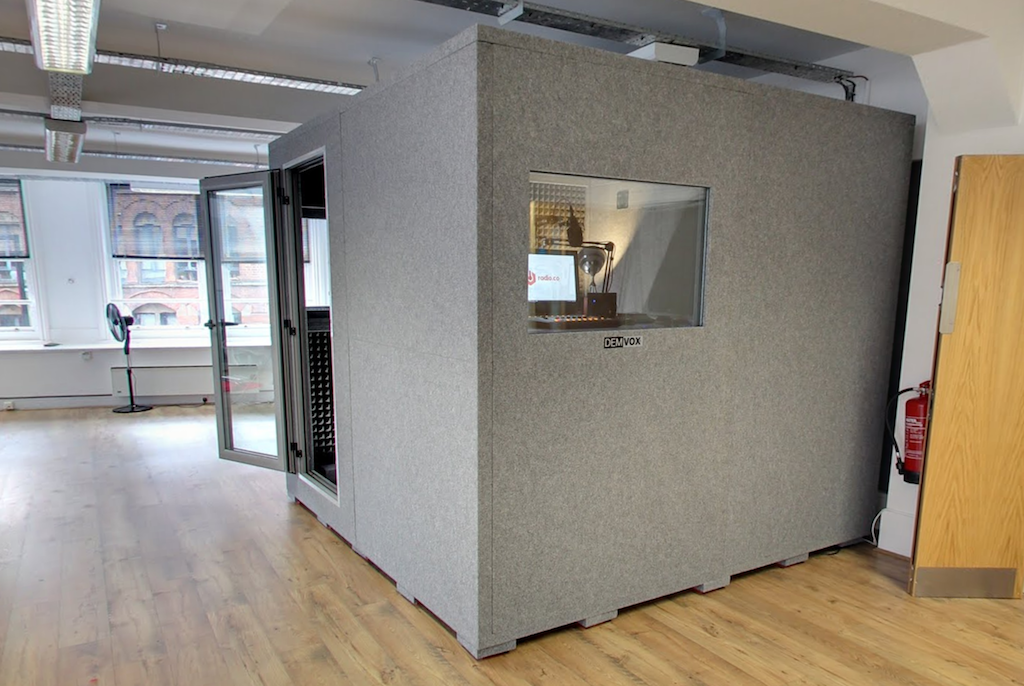 Radio.co Sound Booth (Side View)