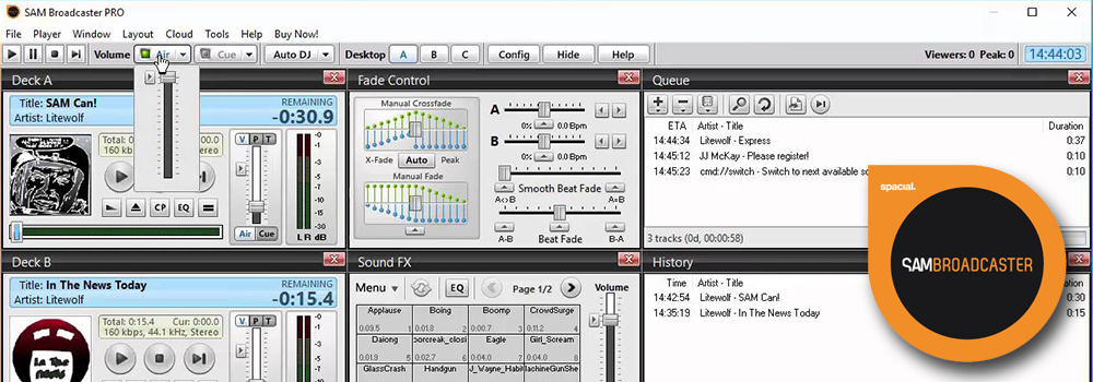 SAM Broadcaster Pro Radio Automation Software