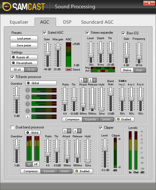 SAM Cast Sound Processing