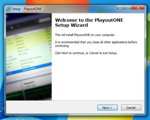 Setup Wizard for PlayoutONE Part 1