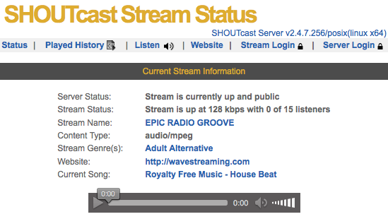 SHOUTcast Version