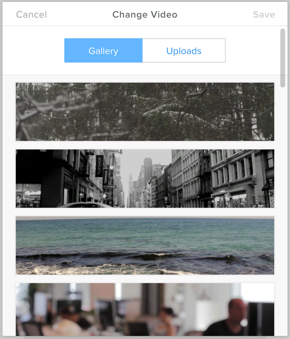 Video Background Gallery Weebly