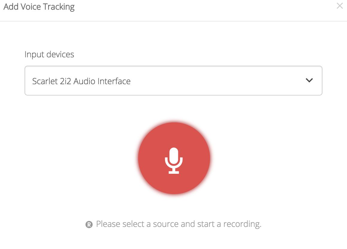 Voice Tracker Audio Interface Scarlet 2i2